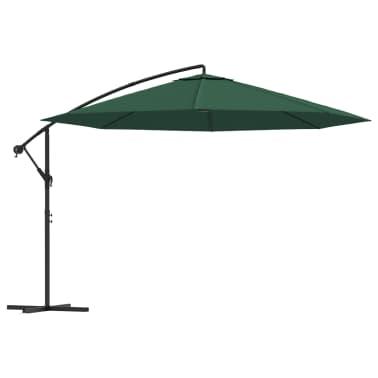 """vidaXL Cantilever Umbrella 137.8"""" Green[1/8]"""