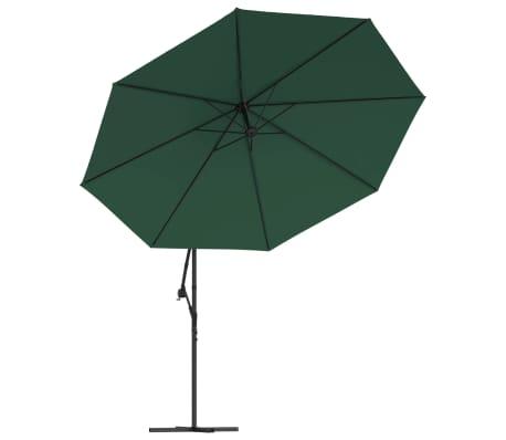 """vidaXL Cantilever Umbrella 137.8"""" Green[3/8]"""