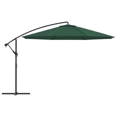 """vidaXL Cantilever Umbrella 137.8"""" Green[2/8]"""