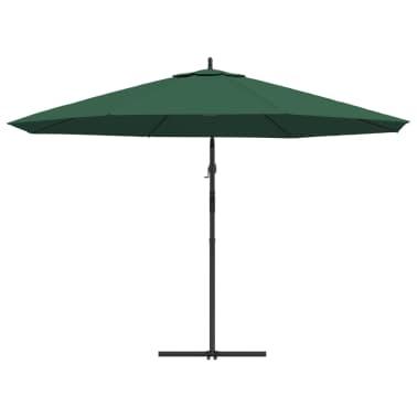 """vidaXL Cantilever Umbrella 137.8"""" Green[4/8]"""