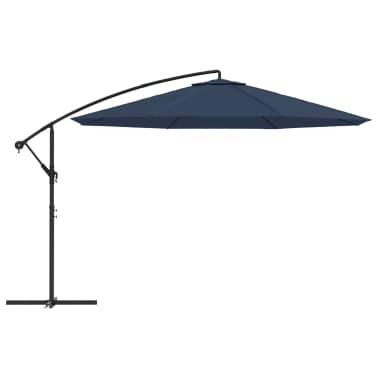 vidaXL Freiarm-Sonnenschirm 3,5 m Blau[2/8]