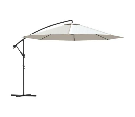 vidaXL paraply 3,5m sandhvit fritthengende[1/8]