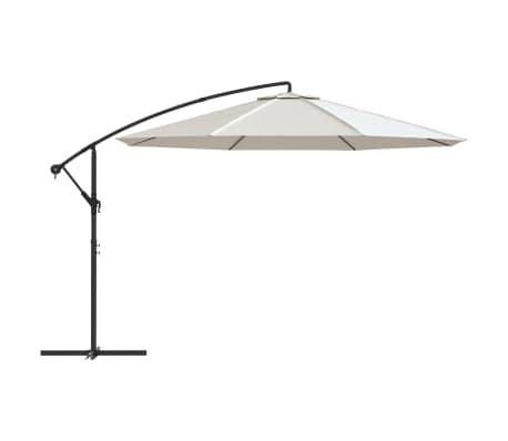 vidaXL Parasol en porte-à-faux 3,5 m Blanc sable[2/8]
