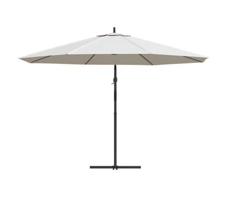 vidaXL Parasol en porte-à-faux 3,5 m Blanc sable[4/8]