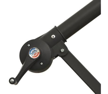 vidaXL paraply 3,5m sandhvit fritthengende[7/8]