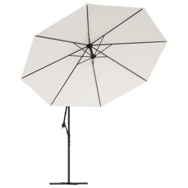 vidaXL paraply 3,5m sandhvit fritthengende[3/8]