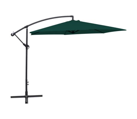"vidaXL Cantilever Umbrella 118.1"" Green[1/8]"