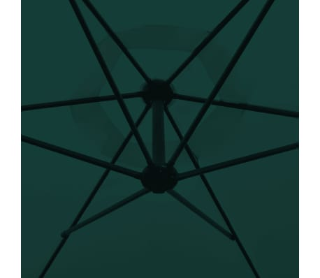 "vidaXL Cantilever Umbrella 118.1"" Green[3/8]"