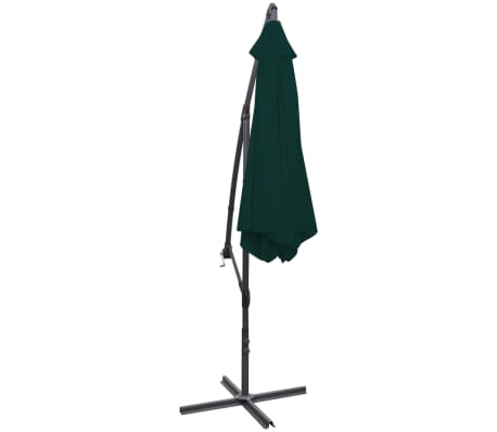 "vidaXL Cantilever Umbrella 118.1"" Green[4/8]"