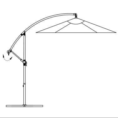 """vidaXL Cantilever Umbrella 118.1"""" Blue[7/8]"""