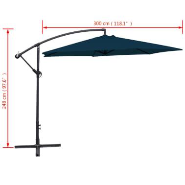 """vidaXL Cantilever Umbrella 118.1"""" Blue[8/8]"""