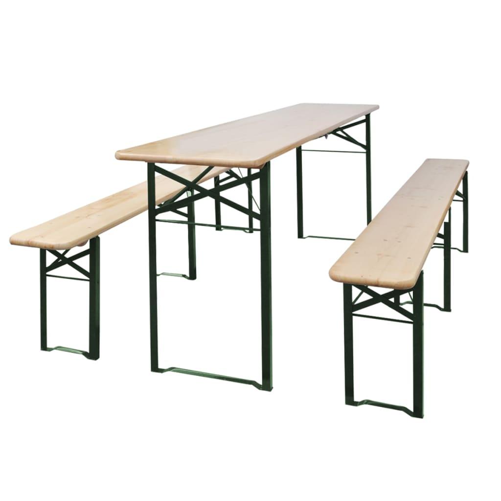 vidaXL Pivní set stůl se 2 lavicemi 220 cm jedle