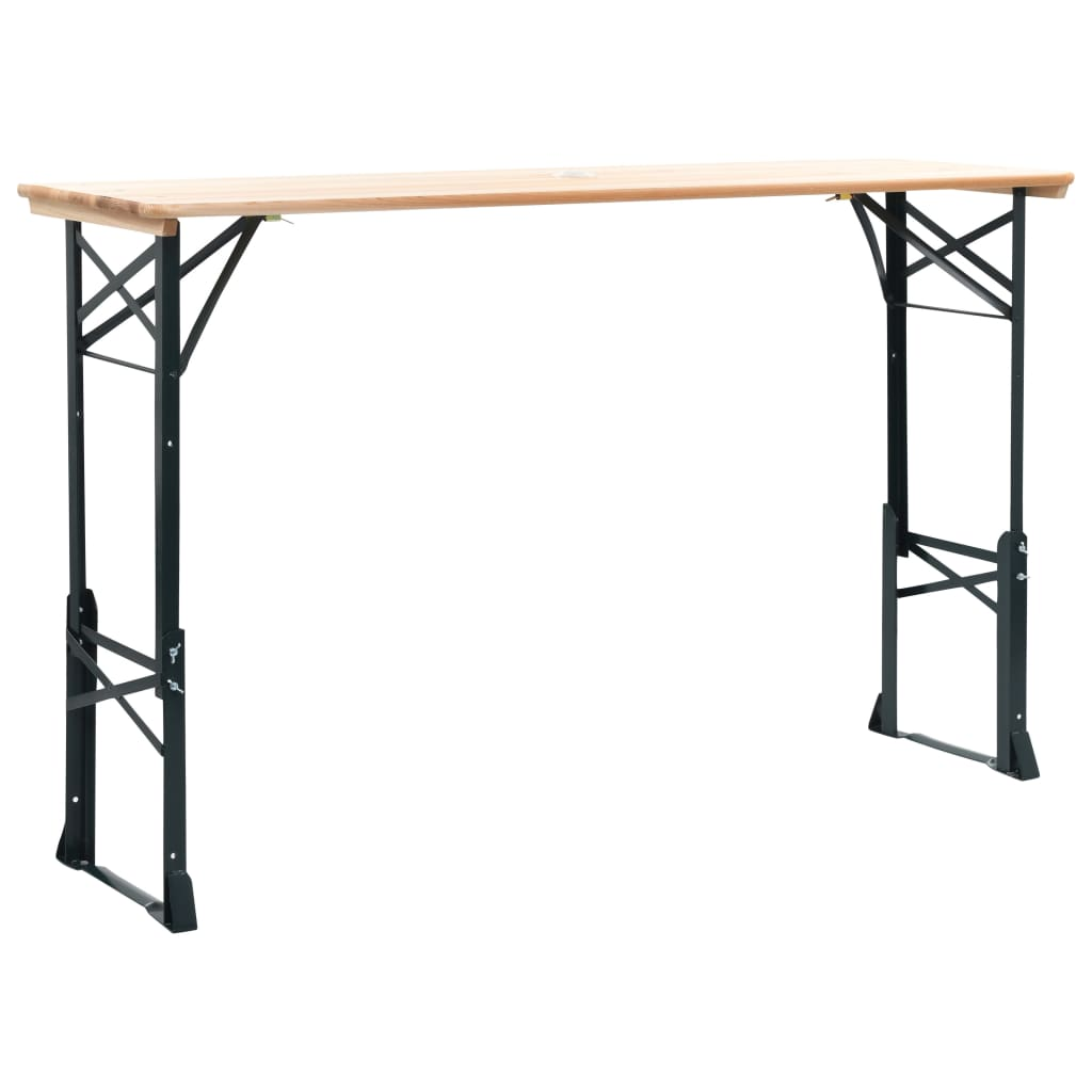 vidaXL Inklapbare biertafel 179x50x75-105 cm dennenhout