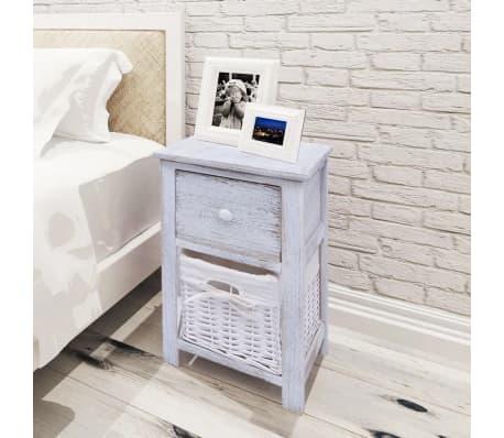 Vidaxl Shabby Chic Bedside Cabinets 2 Pcs Wood White 1 7