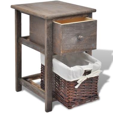 acheter vidaxl table de chevet bois marron pas cher. Black Bedroom Furniture Sets. Home Design Ideas