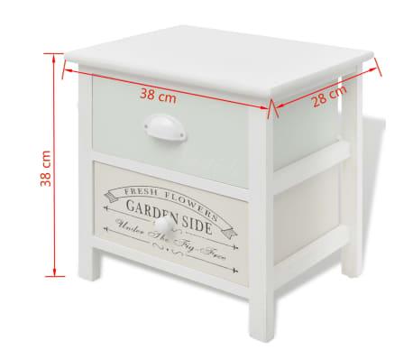 vidaXL Table de chevet en style français Bois[7/7]