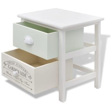 vidaXL Table de chevet en style français Bois[4/7]