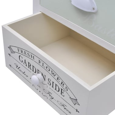 vidaXL Table de chevet en style français Bois[6/7]