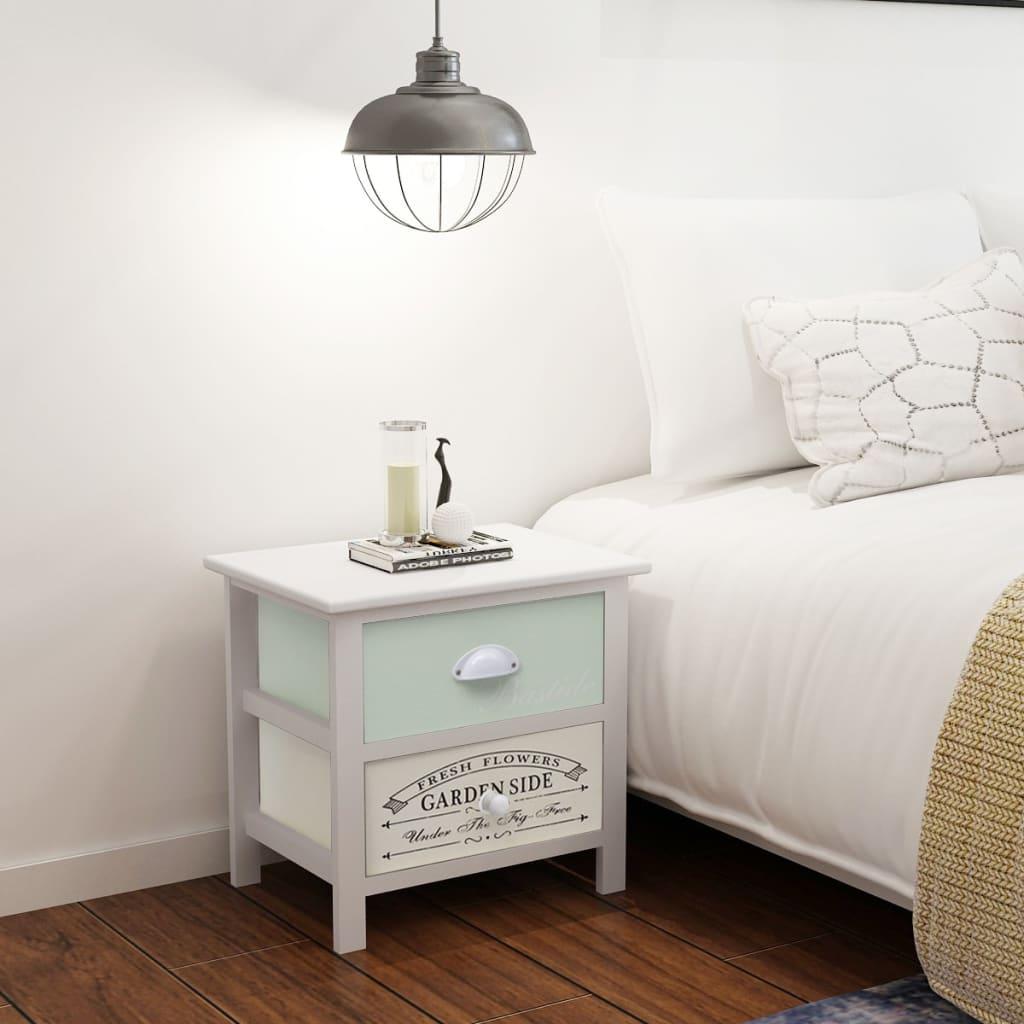 vidaXL Shabby Chic noční stolek ve francouzském stylu