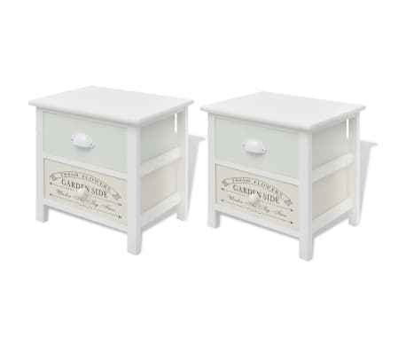 vidaXL French Bedside Cabinets 2 pcs Wood