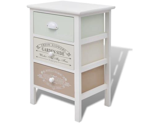 vidaXL Úložná skříňka ve francouzském stylu se 3 zásuvkami dřevěná