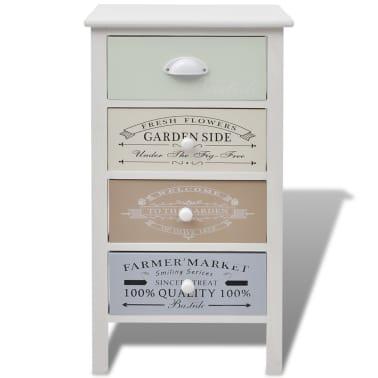vidaXL Armoire de rangement en style français 4 tiroirs Bois[3/6]