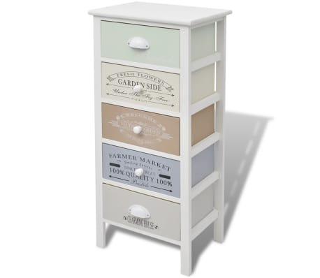 vidaXL French Storage Cabinet 5 Drawers Wood