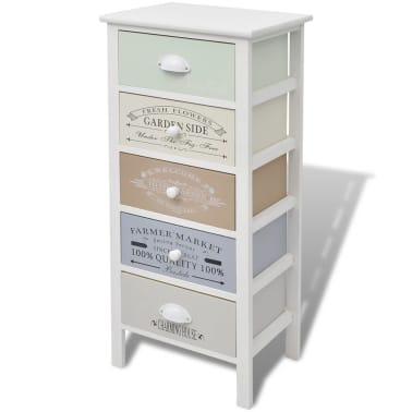 vidaXL Dulap în stil franțuzesc, 5 sertare, lemn[2/6]