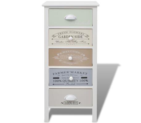 vidaXL Dulap în stil franțuzesc, 5 sertare, lemn[3/6]
