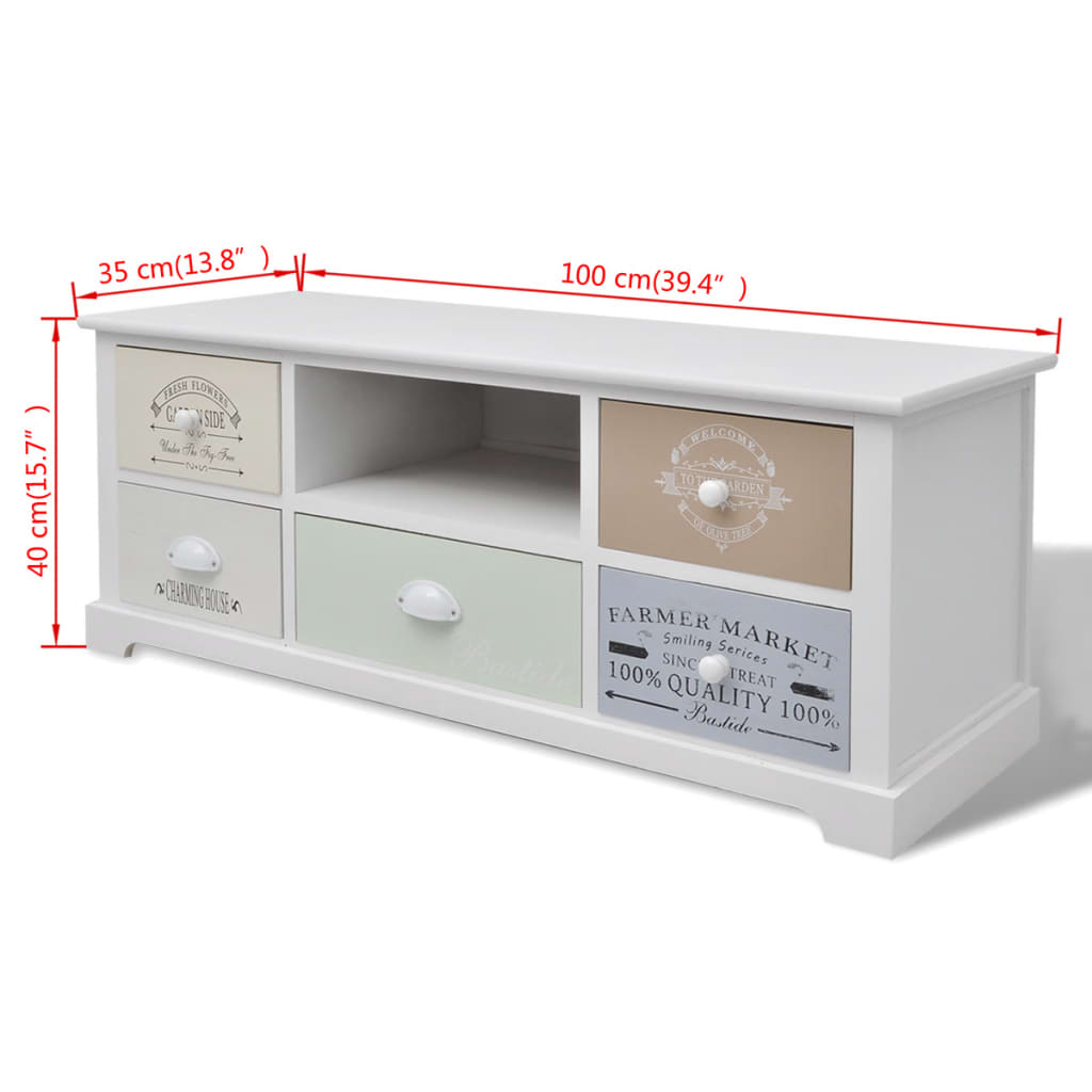 vidaXL Tv-meubel Franse stijl hout