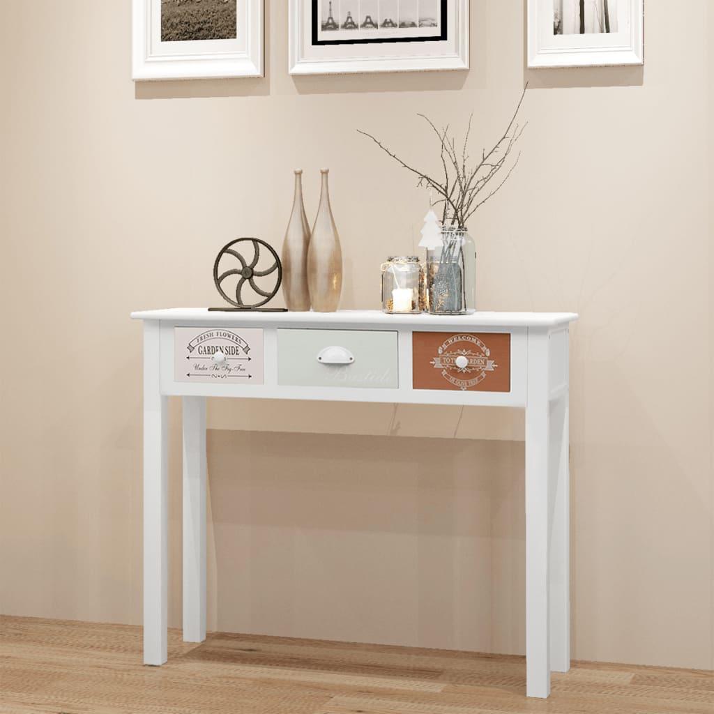 vidaXL Konzolový stolek ve francouzském stylu dřevěný