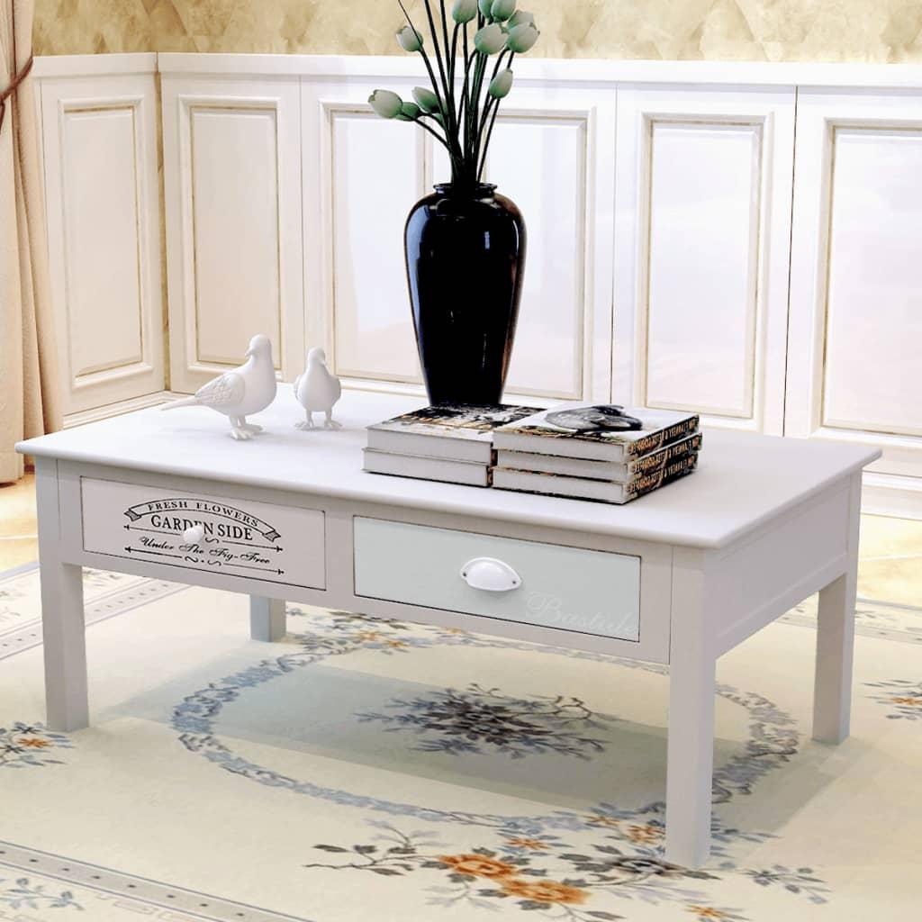 vidaXL Shabby chic konferenční stolek ve francouzském stylu dřevěný