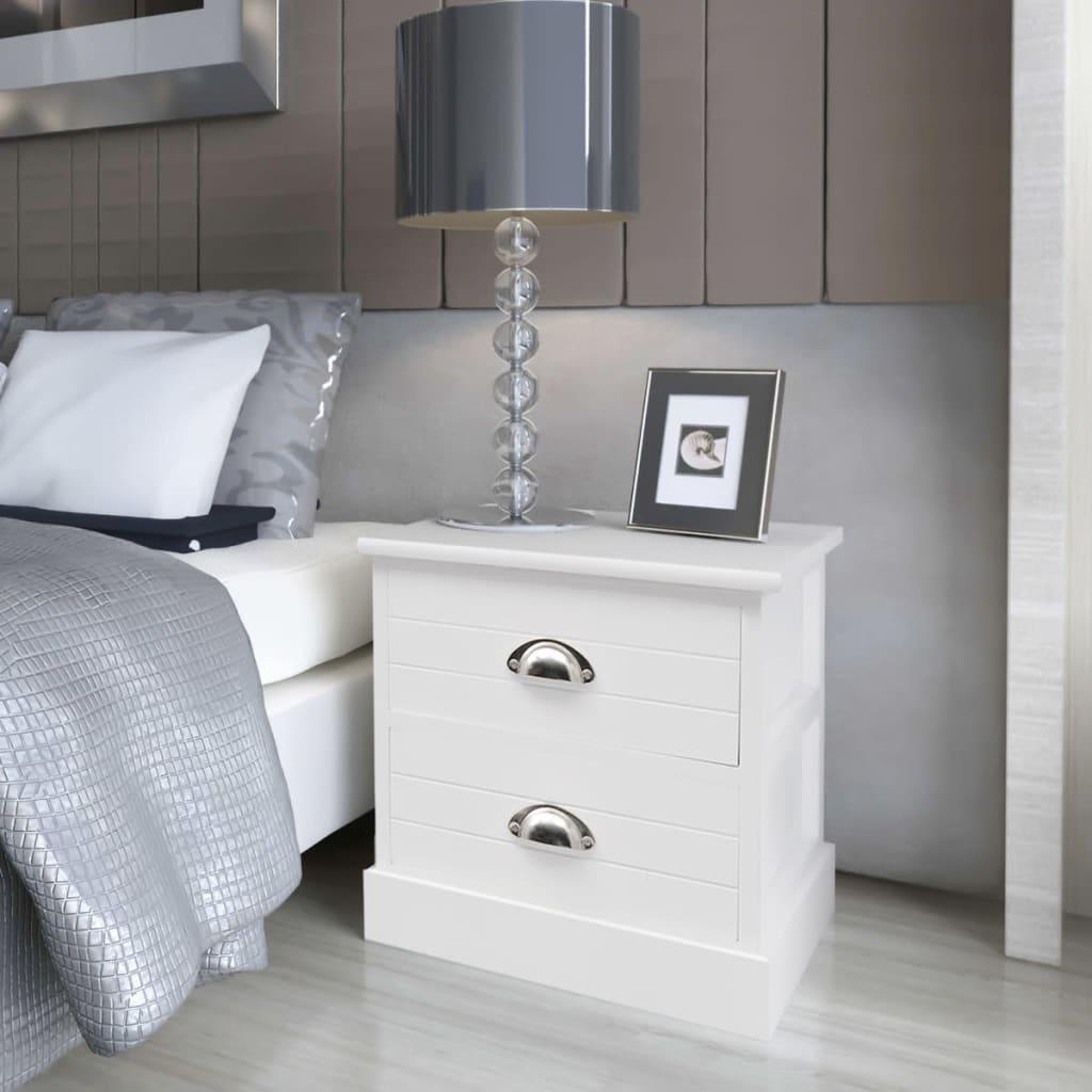 vidaXL Noční stolek ve francouzském stylu bílé