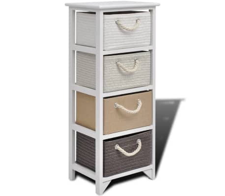 vidaXL Συρταριέρα με 4 Συρτάρια Ξύλινη