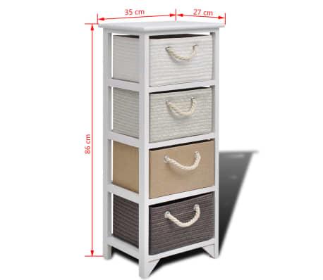 vidaXL Skříňka / komoda se 4 zásuvkami dřevěná[6/6]