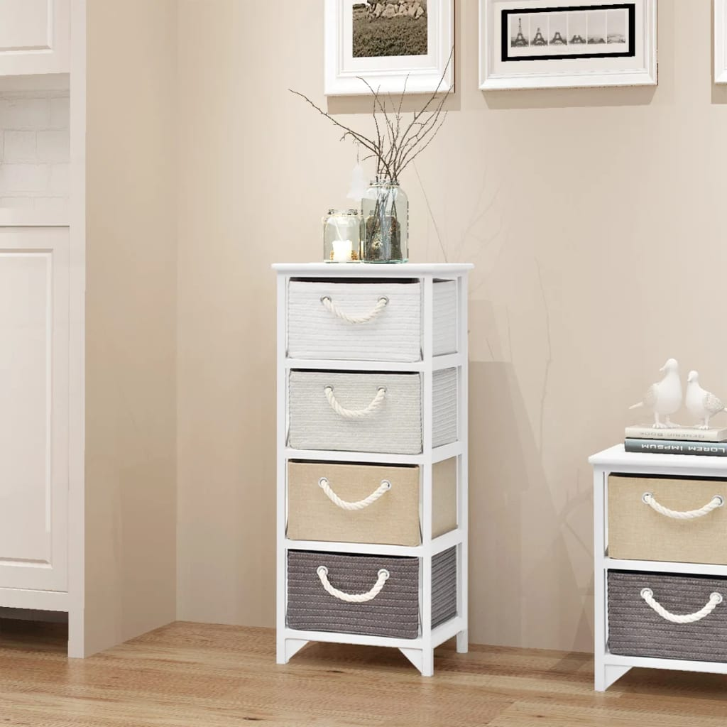 vidaXL Storage Cabinet 4 Drawers Wood
