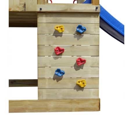 vidaXL Lekplats med stege, rutchkana och gungor 557x280x271 cm trä[4/8]