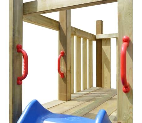 vidaXL Aire de jeu, échelle, toboggan, balançoires 557x280x271 cm Bois[5/8]