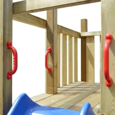 vidaXL Lekplats med stege, rutchkana och gungor 557x280x271 cm trä[5/8]