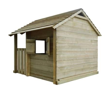 vidaXL Lekstuga med 3 fönster 204x204x184 cm trä[3/6]