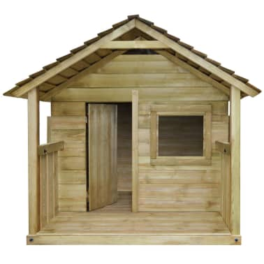 vidaXL Lekstuga med 3 fönster 204x204x184 cm trä[2/6]