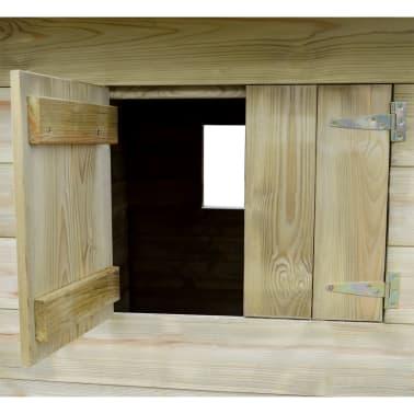 vidaXL Lekstuga med 3 fönster 204x204x184 cm trä[4/6]