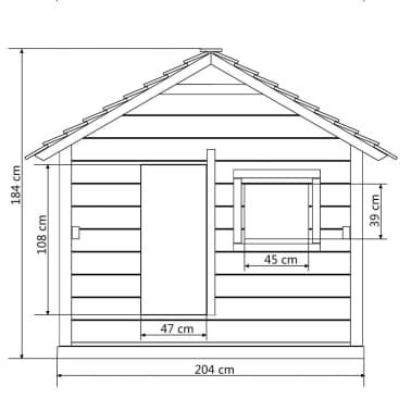 vidaxl spielhaus mit 3 fenstern 204 x 204 x 184 cm holz g nstig kaufen. Black Bedroom Furniture Sets. Home Design Ideas
