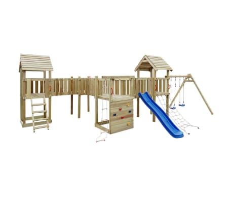 vidaXL Aire de jeu, toboggan, échelles, balançoires Bois 800x615x294cm