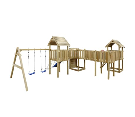vidaXL Speeltoestel + glijbaan, ladders, schommels 800x615x294cm hout[3/8]