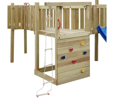 vidaXL Speeltoestel + glijbaan, ladders, schommels 800x615x294cm hout[5/8]