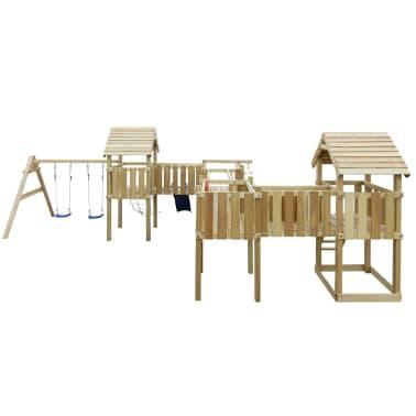 vidaXL Speeltoestel + glijbaan, ladders, schommels 800x615x294cm hout[2/8]