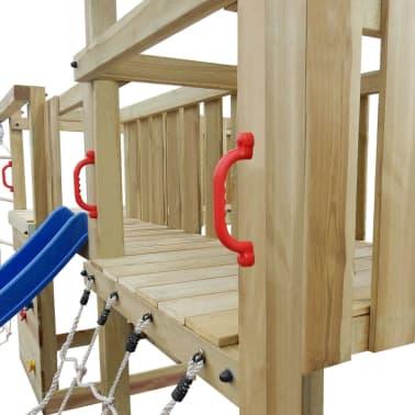vidaXL Speeltoestel + glijbaan, ladders, schommels 800x615x294cm hout[4/8]