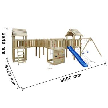 vidaXL Speeltoestel + glijbaan, ladders, schommels 800x615x294cm hout[8/8]
