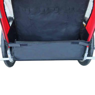vidaXL Remorque de vélo pour enfant Rouge 36 kg[4/5]